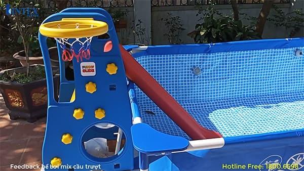 Cầu trượt Hàn Quốc có ném bóng rổ TB200