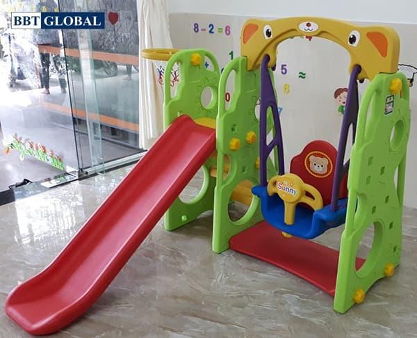 Cầu trượt xích đu Hàn Quốc 4 trong 1 CHD101