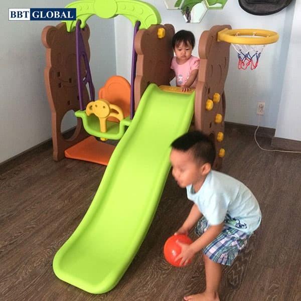 Cầu trượt xích đu Hàn Quốc cho bé CHD161
