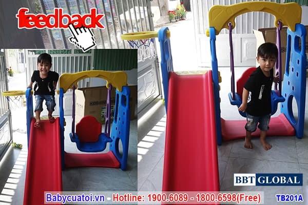 Cầu trượt xích đu Hàn Quốc TB201A