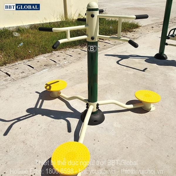 Dự án lắp đặt dụng cụ thể thao ngoài trời tại Quảng Yên, Quảng Ninh | Thiết bị tập xoay eo đứng