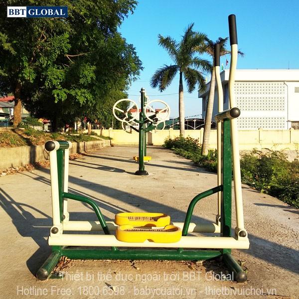 Dự án lắp đặt dụng cụ thể thao ngoài trời tại Quảng Yên, Quảng Ninh | Máy tập đi bộ kết hợp lắc tay