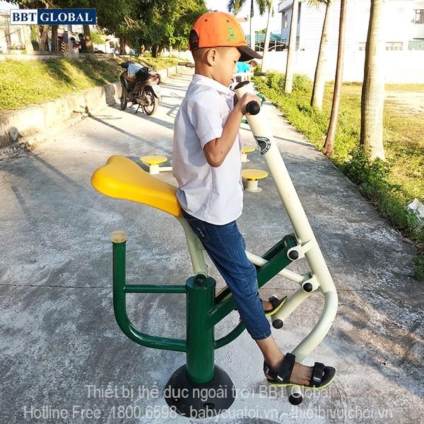 Dự án lắp đặt dụng cụ thể thao ngoài trời tại Quảng Yên, Quảng Ninh | Thiết bị tập kéo đẩy tay chân