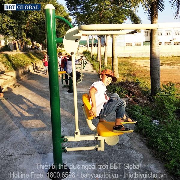 Dự án lắp đặt dụng cụ thể thao ngoài trời tại Quảng Yên, Quảng Ninh | Dụng cụ tập kéo tay vai
