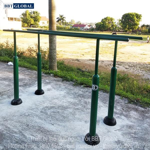 Dự án lắp đặt dụng cụ thể thao ngoài trời tại Quảng Yên, Quảng Ninh | Xà kép ngoài trời