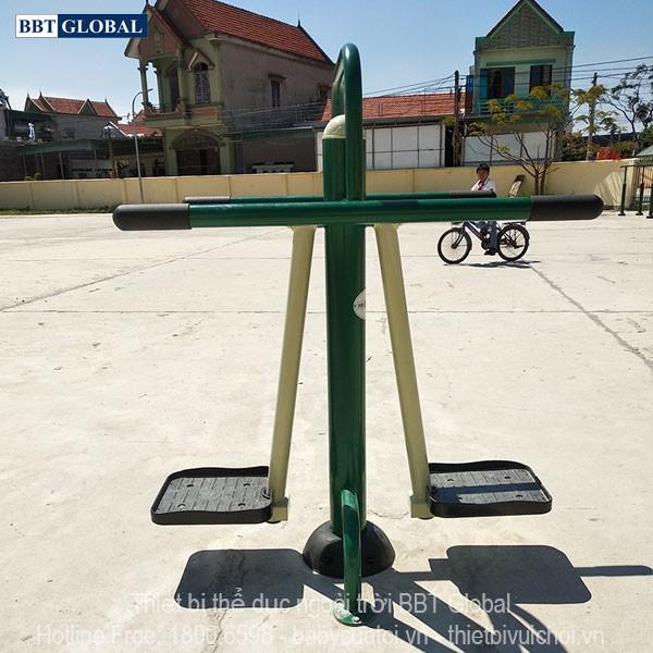 Dự án lắp đặt dụng cụ thể thao ngoài trời tại Quảng Yên, Quảng Ninh | Dụng cụ tập lắc eo đôi