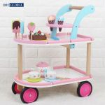 Đồ chơi xe đẩy bánh ngọt BBT Global gỗ cao cấp MSN17076