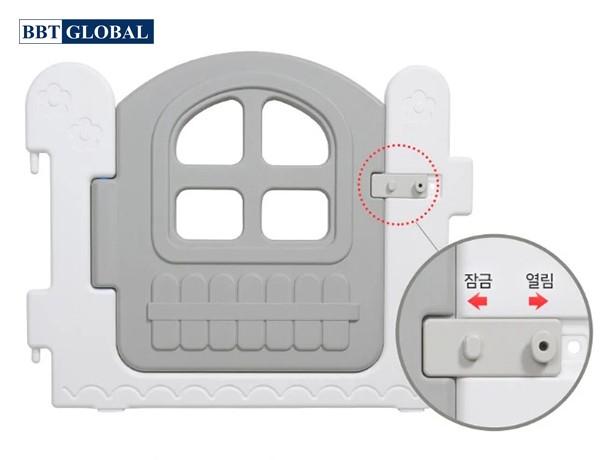 Quây cũi nhựa Hàn Quốc cho bé HNP737-8 | Cạnh cửa