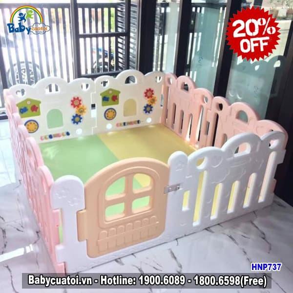 Quây cũi 8 cạnh Hàn Quốc nhập khẩu có đồ chơi HNP737