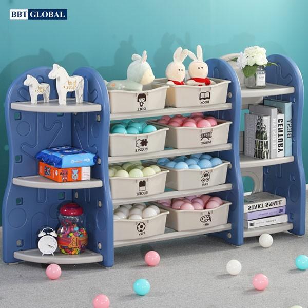 Giá kệ để đồ chơi và đồ dùng cho bé BBT Global xanh dương SH9603
