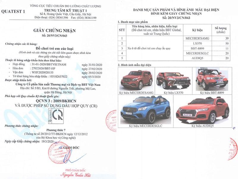 Xe Ô tô điện trẻ em Bản quyền Cao cấp Mercedes GLC