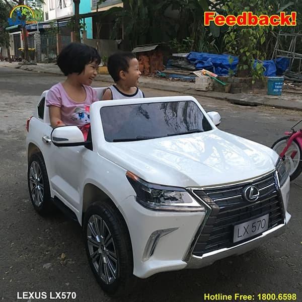 Xe Ô tô điện trẻ em Bản quyền Cao cấp Lexus LX570