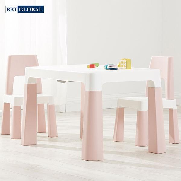 Bàn ghế style Hàn Quốc BBT GLOBAL cao cấp mầu hồng BB100-H