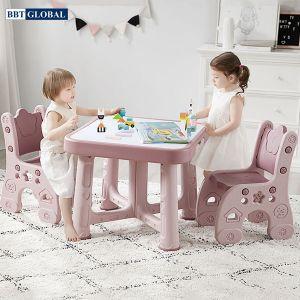 Bàn ghế style Hàn Quốc BBT GLOBAL cao cấp mầu hồng B101/GH101