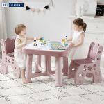 Bộ bàn 2 ghế style Hàn Quốc BBT GLOBAL cao cấp màu hồng BB101-H