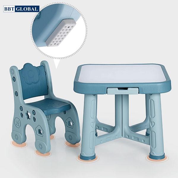 Bàn ghế style Hàn Quốc BBT GLOBAL cao cấp màu xanh BB101-X