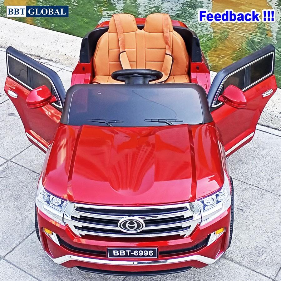 Ô tô điện trẻ em dáng Toyota Land Cruiser sơn cao cấp BBT-6996