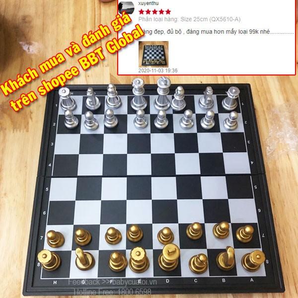 Bộ cờ vua vàng bạc nam châm size 48cm QX9816