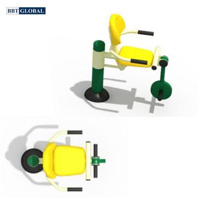 Thiết bị thể dục ngoài trời ghế tập chân 1 chỗ ngồi BBT Global KXJS-055