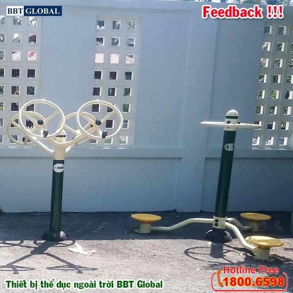 Dự án lắp đặt thiết bị thể dục ngoài trời tại Giồng Trôm, Bến Tre | Dụng cụ tập xoay eo đứng