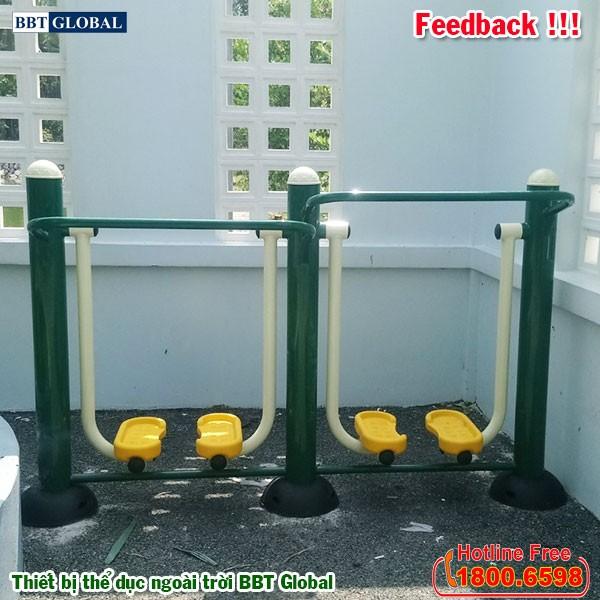 Dự án lắp đặt thiết bị thể dục ngoài trời tại Giồng Trôm, Bến Tre | Dụng cụ tập đi bộ trên không 2 nấc độ cao