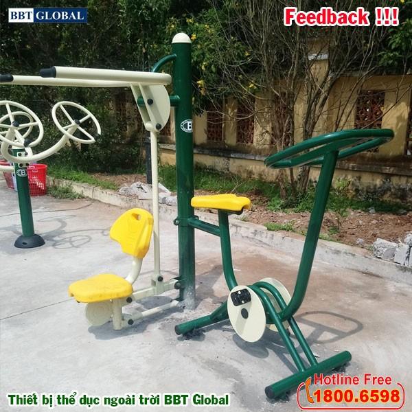 Dự án lắp đặt thiết bị thể dục ngoài trời tại Giồng Trôm, Bến Tre | Máy tập đạp xe kết hợp kéo tay vai