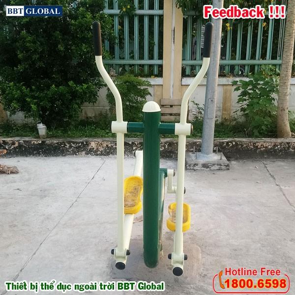 Dự án lắp đặt thiết bị thể dục ngoài trời tại Giồng Trôm, Bến Tre | Máy tập đi bộ kết hợp lắc tay