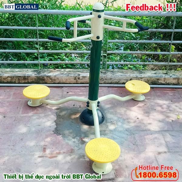 Dự án lắp đặt thiết bị thể dục ngoài trời tại Giồng Trôm, Bến Tre | Máy tập xoay eo đứng