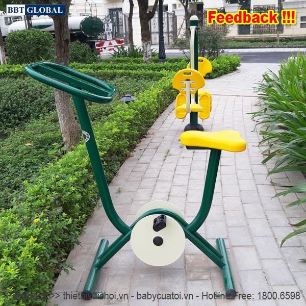 Dự án lắp đặt máy tập thể dục công viên tại Hoài Đức, Hà Nội | Máy tập đạp xe ngoài trời