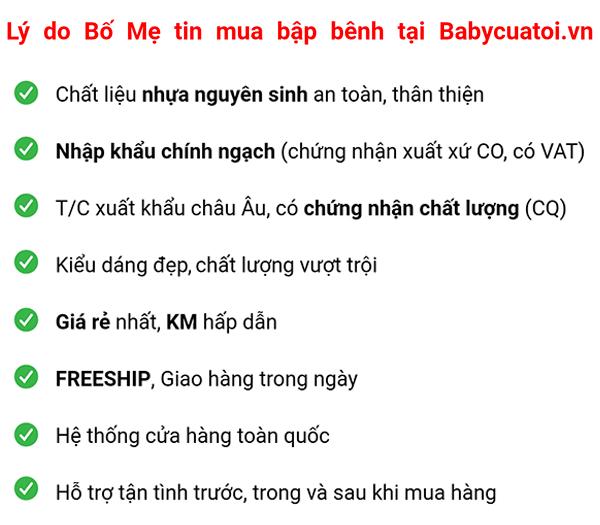 Lý do bố mẹ tin mua bập bênh tại Babycuatoi.vn