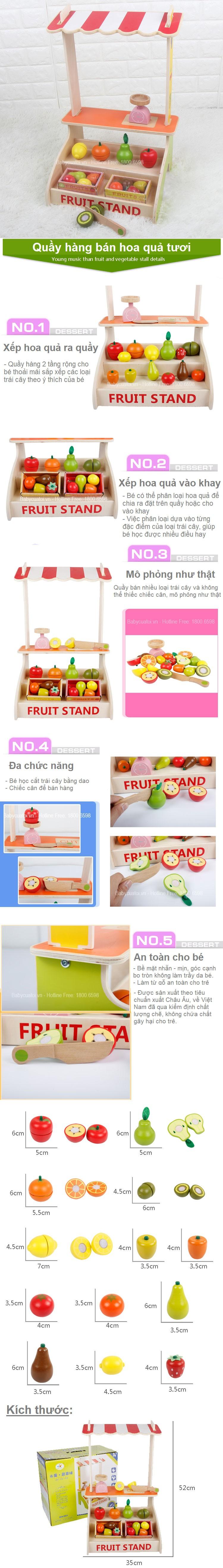 Đồ chơi quầy bán trái cây cho bé MSN15023