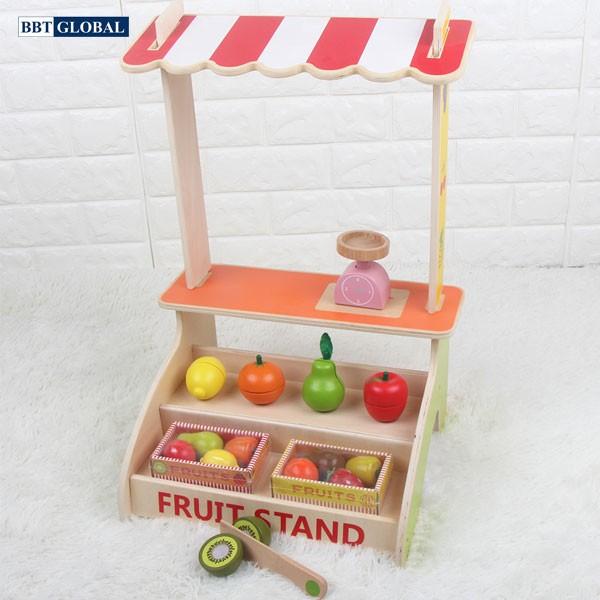 Đồ chơi quầy bán trái cây bằng gỗ MSN15023