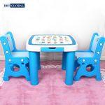 Bộ bàn 2 ghế học chữ BBT GLOBAL cho bé màu xanh BB102-X