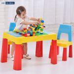 Bộ bàn chơi LEGO đa năng 2 ghế cho bé màu xanh BB106