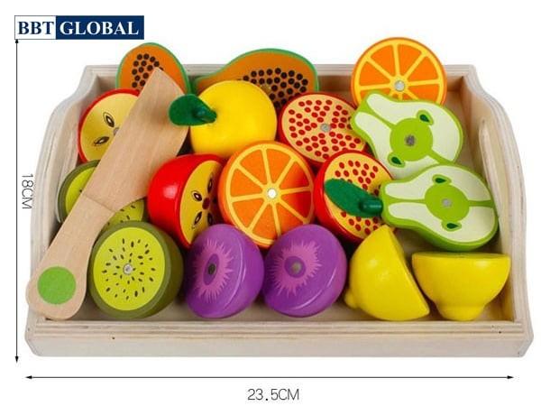 Đồ chơi cắt trái cây bằng gỗ MSN15031