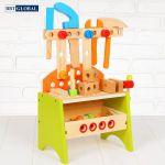 Đồ chơi sửa chữa kết hợp xếp hình bằng gỗ cao cấp MSN13023