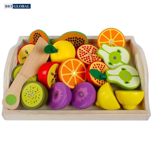 Bộ đồ chơi cắt trái cây bằng gỗ cao cấp MSN15031