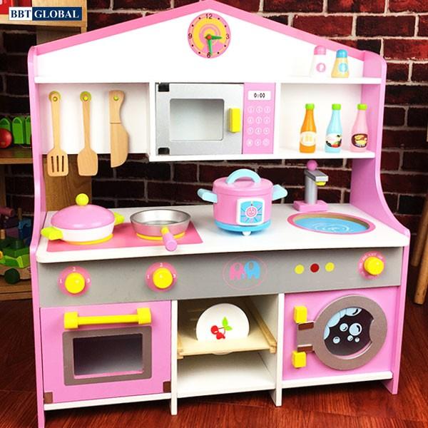 Đồ chơi trẻ em Hà Nội | Bộ đồ chơi nấu bếp gỗ