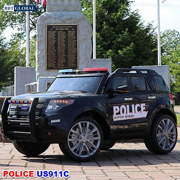 Ô tô điện trẻ em cảnh sát kiểu Mỹ US911C