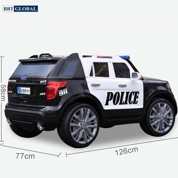 Xe ô tô điện trẻ em cảnh sát US911C | Kích thước