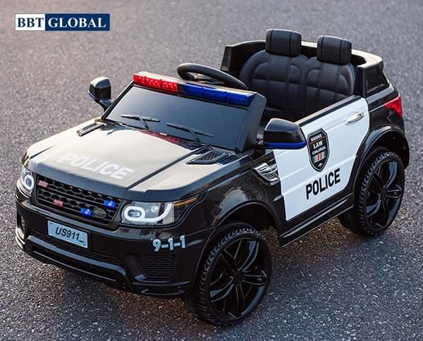 Xe ô tô điện cảnh sát cho bé US911B | Màu đen