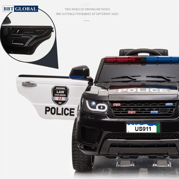 Xe ô tô điện cảnh sát cho bé US911B