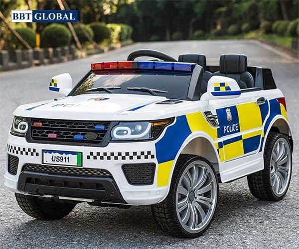 Xe ô tô điện cảnh sát cho bé US911B | Màu trắng