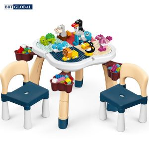 Bộ bàn chơi LEGO đa năng 2 ghế kèm bộ xếp hình 100 chi tiết cỡ lớn188T-8