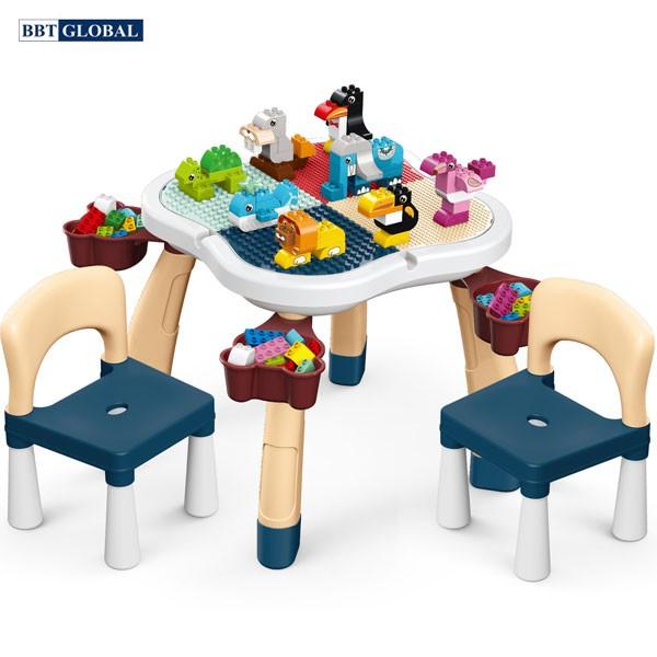 Bộ bàn chơi LEGO đa năng 2 ghế kèm bộ xếp hình 100 chi tiết cỡ lớn 188T-8