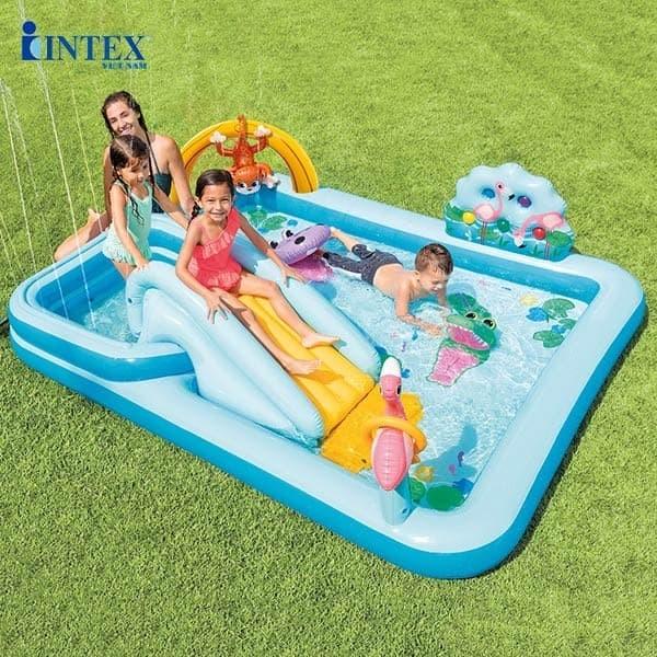 Bể bơi phao cầu trượt Intex 57161