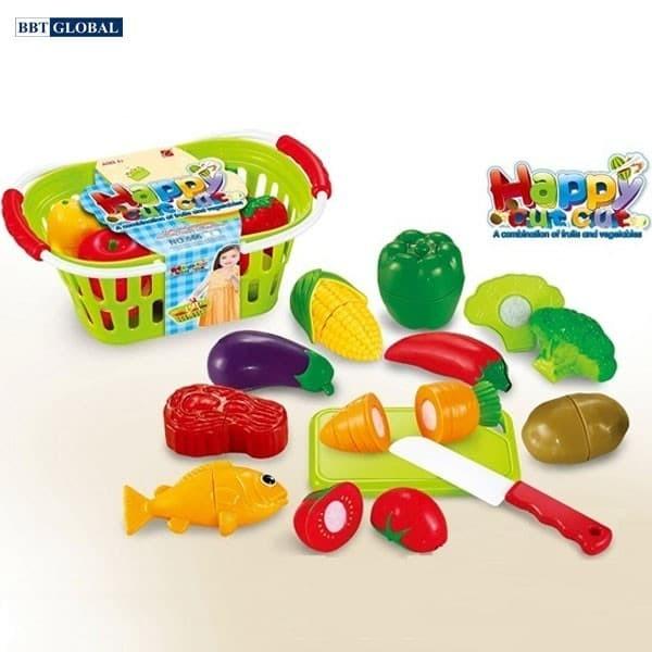 Bộ đồ chơi cắt ghép rau củ quả bằng nhựa 666-25