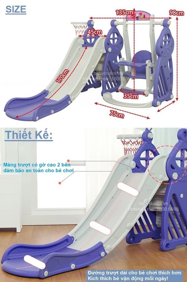 Cầu trượt xích đu cho bé BSL301