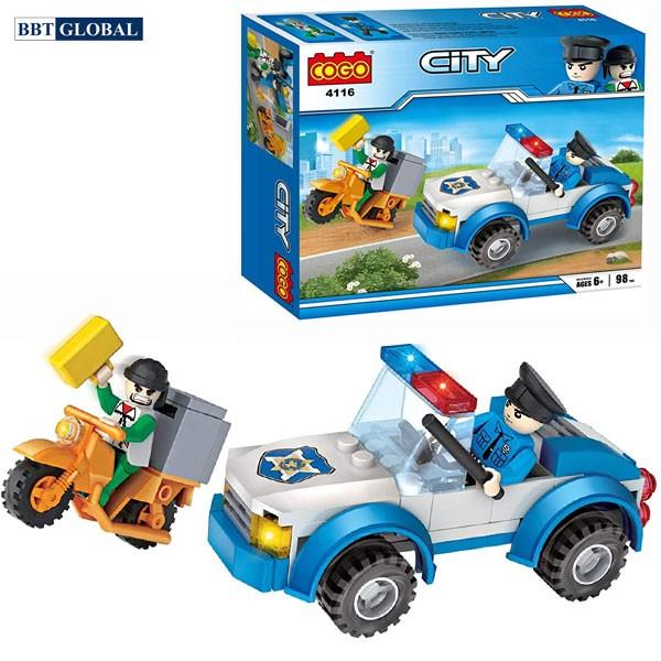 Bộ đồ chơi xếp hình cao cấp xe cảnh sát CGBX4116