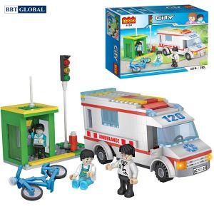 Bộ đồ chơi xếp hình xe cứu thương CGBX4124